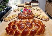 This Bulgarian Easter bread recipe, known as kozunak, is also served at Christmas and for other special occasions. It's a slightly sweet yeast-raised bread with raisins that crosses the line between bread and coffee cake.