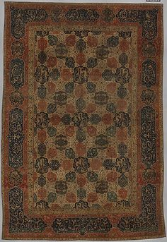 Carpet with a Compartment Design | Islamic | The Met | From the Yerkes Collection