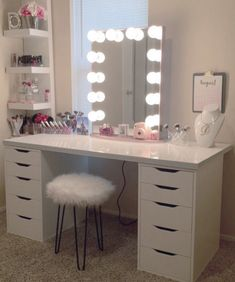 professional makeup vanity table with lights. Makeup Vanity with Lights  Ikea Table Lighted Mirror Professional 17 DIY Ideas to Make Your Room More Beautiful