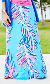 The Lilly Pulitzer Nola Skirt in Searulean Blue Sea Spray