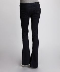 Take a look at this Indigo Tulip Flare Jeans - Women by Seven7 on #zulily today!