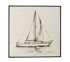 Sailboat Framed Print #potterybarn