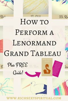 The grand tableau spread is the most detailed spread in lenormand fortune telling. However, I recommend that even beginners tackle this layout for love, business and pretty much anything so that they can start reading sooner rather than later. If you're just learning, grab a pen, a deck, and lets go to it!