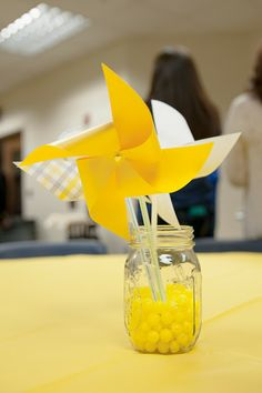 Little Miss Sunshine 1st Birthday Party Table Centerpieces