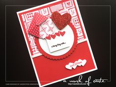 Valentines Day Card featuring Sealed With Love stamp set by Stampin' Up and Sending Love Designer Series Paper