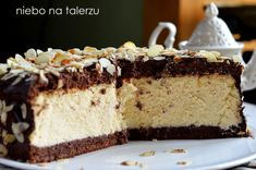 Puszysty sernik nabiszkopcie Cheesecake Desserts, Vanilla Cake, Sweet Recipes, Tiramisu, Birthdays, Cooking Recipes, Chocolate, Ethnic Recipes, Cheese Cakes