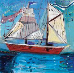 Greek Art, Sailing Ships, Modern Contemporary, Sailboat, Tall Ships