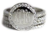 Monogrammed Ring Sterling Silver Ring Engraved by MonogramBelle on etsy