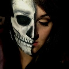 Half Skull. This image would make an awesome day of the dead tattoo