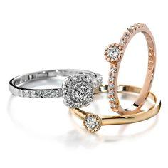 Tillander Red Label-sarjan Halo-sormukset. 1899€ Label, Wedding Rings, Engagement Rings, Jewelry, Enagement Rings, Jewlery, Jewerly, Schmuck, Jewels