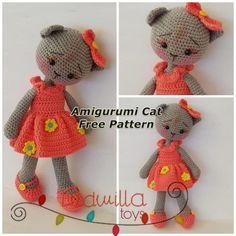 Free Amigurumi Pattern: Cube Kitty Cat pattern by Crafty Bunny Bun ... | 236x236