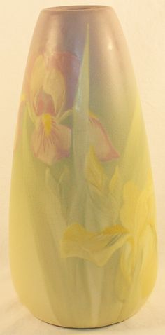 Weller Pottery Hudson Two Iris Vase from Just Art Pottery