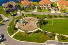 Stock Image: Aerial drone image of luxury homes in Orlando Florida Real Estate Drone, Kids Play Equipment, Atlanta, Aerial Drone, Real Estate Photography, Orlando Florida, Aerial Photography, Kids Playing, Luxury Homes