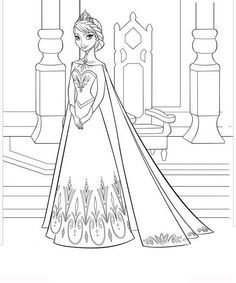 Elsa Coloring Pages Printable Frozen Page Strength