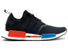 Adidas Originals NMD Runner Primeknit - Chaussure de Running Adidas Pas Cher Pour Homme/Femme Noyau Noir/Core Noir/Rouge S79168