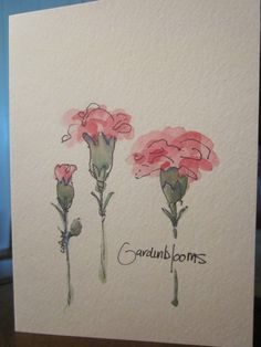More Carnations Watercolor Card