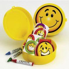 Plastic Smile Face Stationery Sets