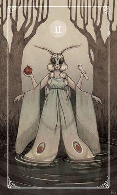 High Priestess Tarot Card Krista Gibbard: http://bardillustration.tumblr.com/