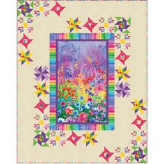 Timeless Treasures Fabrics Day Dreaming Quite Contrary Quilt Kit