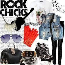 Rock this look! Jeans, studs, leather and cool sunglasses!