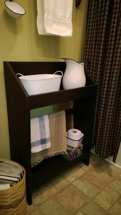 Primitive Bathroom washstand