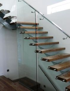 Glass stair rails - outdoor stair handrails  www.glasone.com