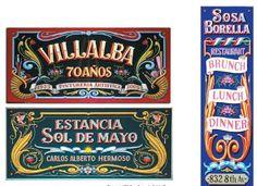 from Filete Porteño Typography Design, Brunch, Restaurant, Dinner, Art, Steaks, Historia, Dining, Art Background