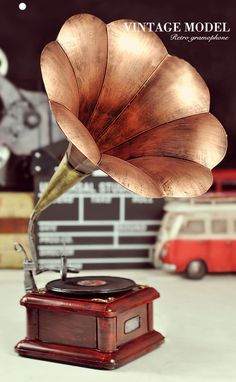 VINTAGE BRASS-PLATED GRAMOPHONE REPLICA from Bridesmaids