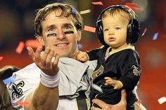 Drew Brees after winning the Super Bowl. I remember watching this moment and thinking how special it was <3