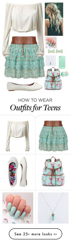 """"""""""" by maymay125 on Polyvore featuring Aéropostale, Mudd, Candie's, Eos and Casetify"""