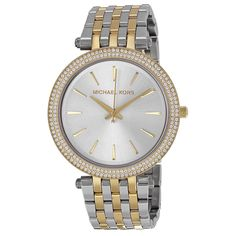 Michael Kors Women's Darci Two-Tone Stainless Steel Bracelet Watch Michael Kors Rose Gold, Michael Kors Watch, Army Watches, Beautiful Watches, Stainless Steel Bracelet, Gold Watch, Bracelet Watch, Silver, Accessories