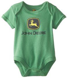 John Deere Baby-Boys Newborn Trademark Bodyshirt Green