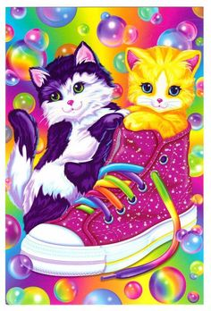 LISA FRANK!!! Love this. I used to have all these school supplies with these pictures on them.