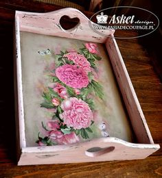 Art Szkoła Asket -Technika decoupage Craft Projects, Projects To Try, Elsa, Diy And Crafts, Shabby, Serving Trays, Amazing Things, Create, Creativity