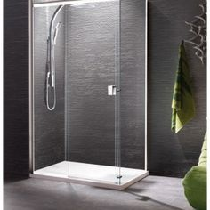 manhattan 8 straight slider shower door 1200mm with optional side panel m12s4625cc banyo