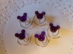 The perfect hair accessory for Disney themed bridal parties. Click on the picture to see more colors.  MOUSE EARS Hair Swirls for Disney Wedding in by hairswirls1, $12.99