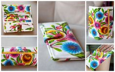 Very cool wallet made of oil cloth Fabric Crafts, Sewing Crafts, Sewing Projects, Diy Crafts, Sewing Hacks, Sewing Tutorials, Bougie Candle, Diy Clutch, Diy Wallet