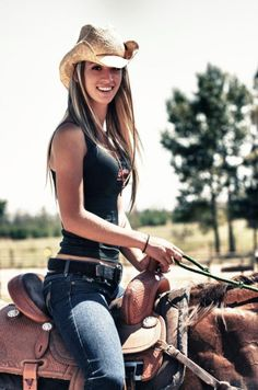 Gorgeous; could be me, minus the long blonde hair and the saddle, just for starters! Haha!