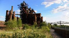 Nedlagt industri i Ruhr Utility Pole