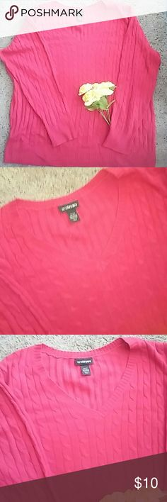 Classic Preppy Cableknit 26/28 Like New! Worn once. Classic Red Don't Miss This? Lane Bryant Sweaters Crew & Scoop Necks