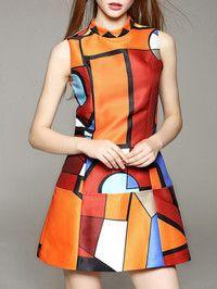 Printed Fashion Mini dress