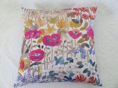 Liberty Faria Flowers 18 x 18 inch cushion cover