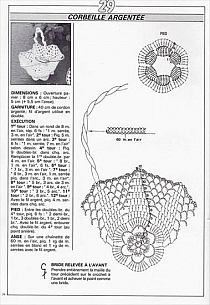 crochet - miniatures et dorures - 闽女爱越 - Picasa Webalbumok Crochet Bowl, Crochet Chart, Filet Crochet, Crochet Patterns, Crochet Fairy, Russian Crochet, Baptism Gifts, Ribbon Design, Craft Bags