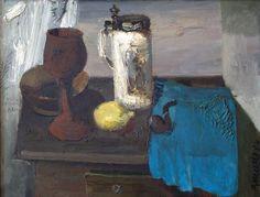 Artist: Muzis Roberts Still Life with a Pipe * 1984, оil on canvas, 54,5x70,5 cm