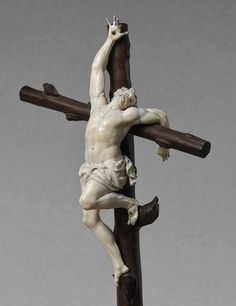Morbid Anatomy: Detail of Calvary, Ebony and Ivory, Late 17th–Early 18th Century, From the Metropolitan Museum of Art