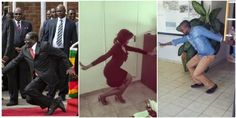 People copying the new trend of Mugabe fall via geniushowto.blogspot.com #mugabefalls memes