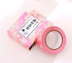 Sakura Japanese Washi Tape Deco Tape - 15mm X 10 metres by GinkoSupplies on Etsy
