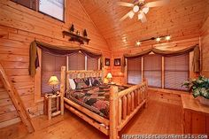 A Walk In The Clouds - This cabin has 3 spacious bedrooms. This luxury cabin is located in the Preserve Resort. It has spectacular views of the Smokies! #cabin