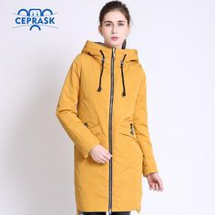 Women's Windproof Thin Parka Hooded Long  Spring Autumn Coat