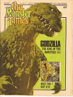 I still have my copy I bought when it came out ! The Monster Times 23 Godzilla King of the Monsters June